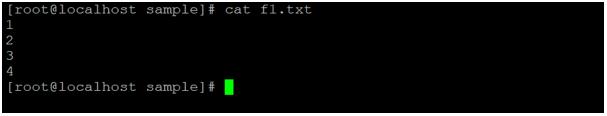 Linux comm output 1