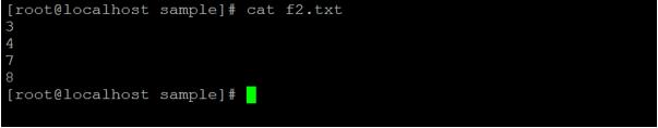 Linux comm output 2