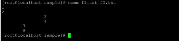 Linux comm output 3