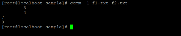 Linux comm output 4