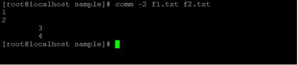 Linux comm output 5