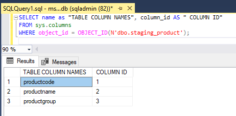 Metadata in SQL-2.2