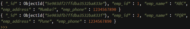 MongoDB insert - 6
