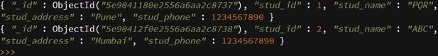 MongoDB insert - 9