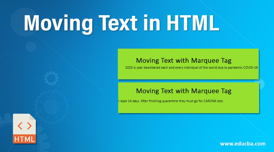 Moving Text in HTML