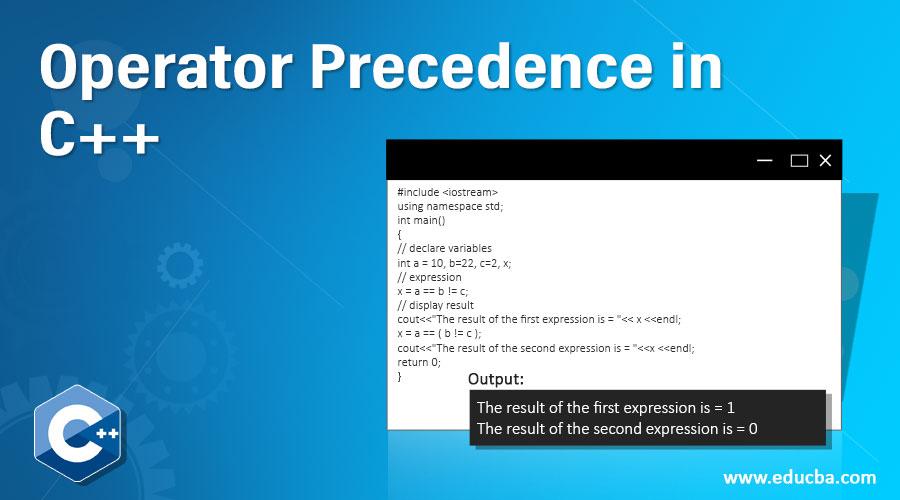 Operator Precedence in C++