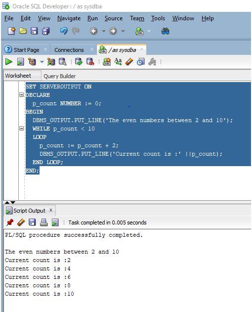 Oracle While Loop1