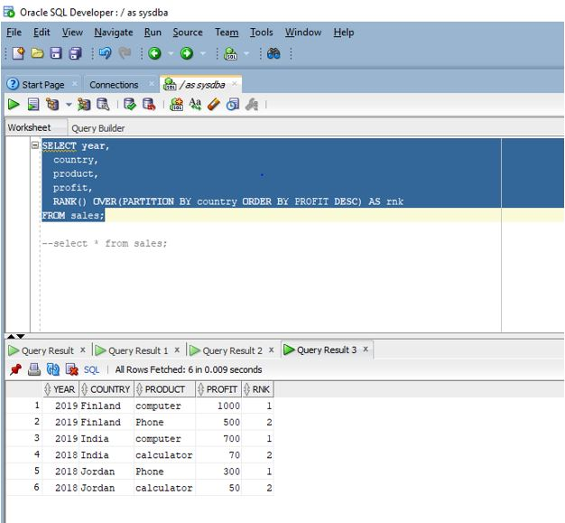 Oracle Window Functions4