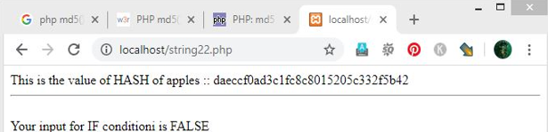PHP MD5() - 1