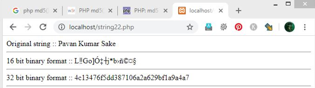 PHP MD5() - 2