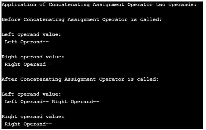 Concatenating Assignment