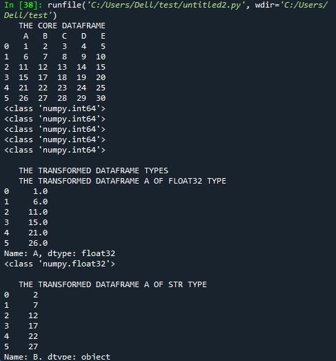 Pandas DataFrame.astype()-1.3