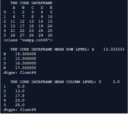 Core Dataframe