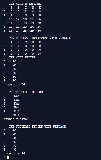 Pandas DataFrame.where()-1.1