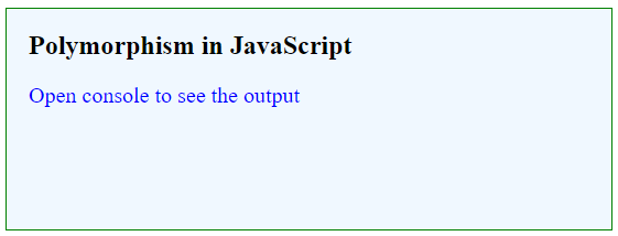 Polymorphism in JavaScript-1.1