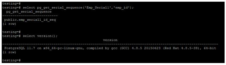 PostGRESQL SERIAL1