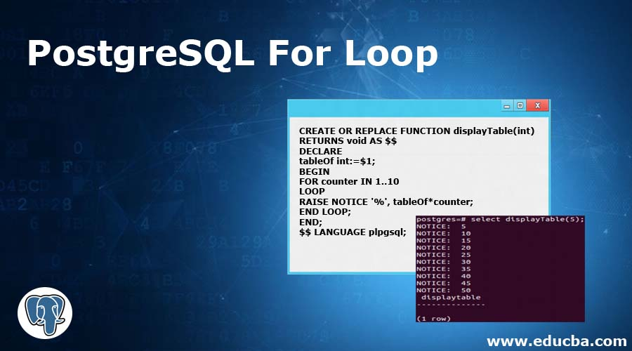 PostgreSQL For Loop