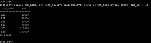 PostgreSQL HAVING - 3
