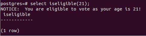 eligibility function