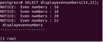 displayevennumbers