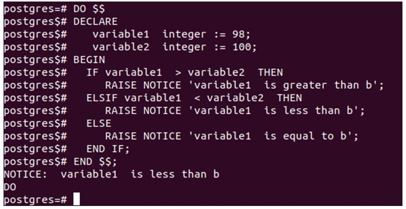 variable1 and variable2 will have 98 and 100 values
