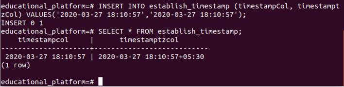 Postgresql Datetime output 5