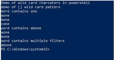 Powershell Wildcards Ex 3