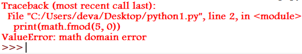 Domain Error Example 5.2