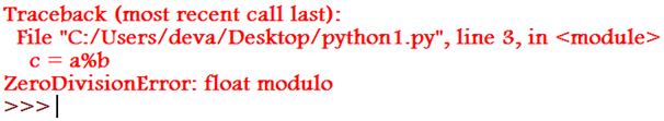 ZeroDivisionError Example 3