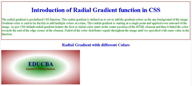 Radial Gradient in CSS1
