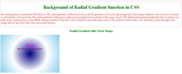 Radial Gradient in CSS2