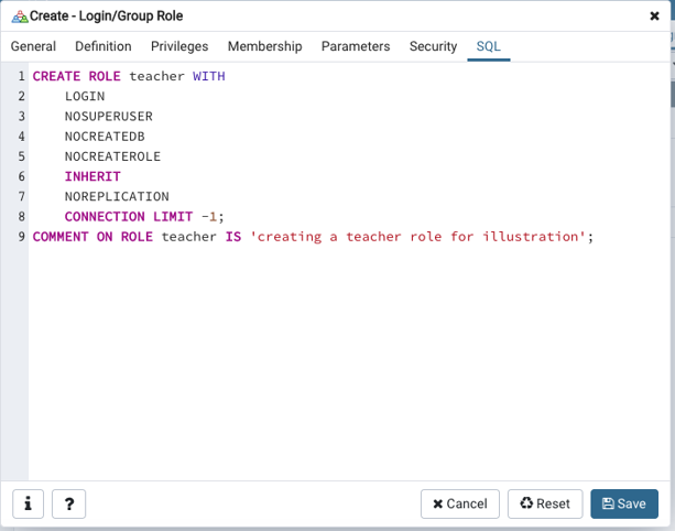 SQL for login