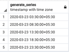 Generate Series Example 4