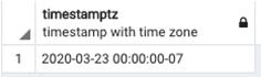 SQL Timestamp Example 2