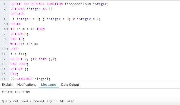 Fibonacci function
