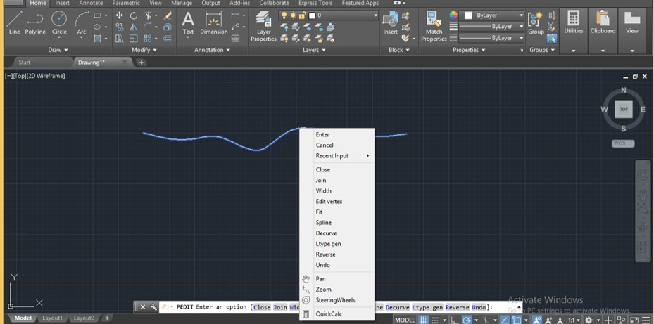 Spline in AutoCAD - 16