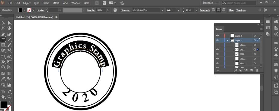 Stamp Effect in Illustrator - 24