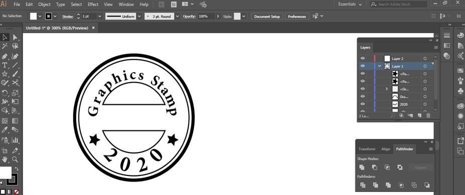 Stamp Effect in Illustrator - 30
