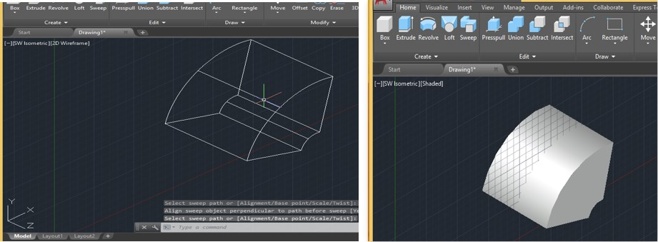 Sweep in AutoCAD - 26