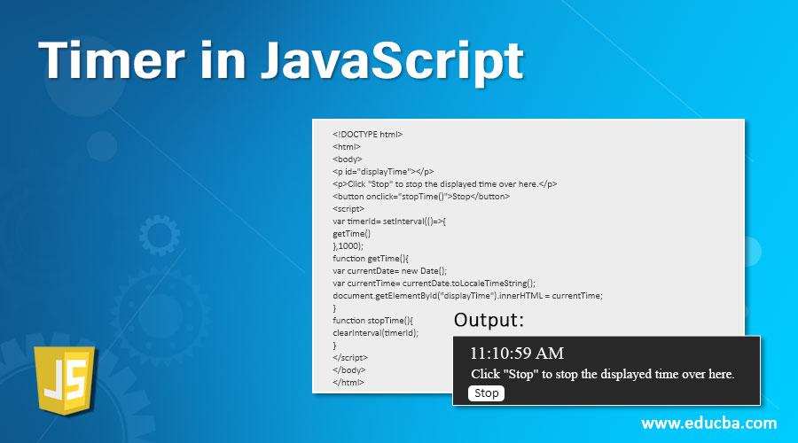 Timer in JavaScript