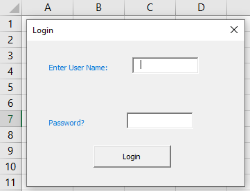 VBA Login Example 1-13
