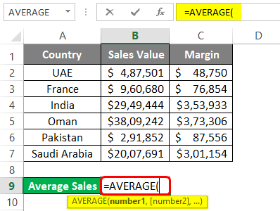 average in excel 1-2