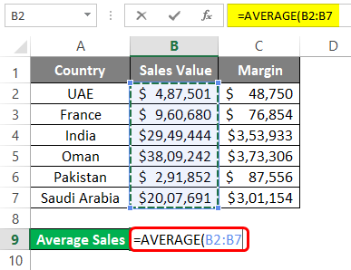 average in excel 1-3