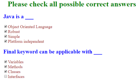 checkbox css output 1