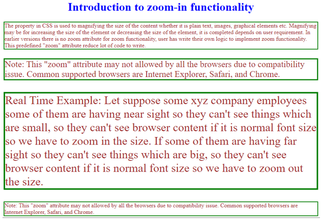 css zoom output 1