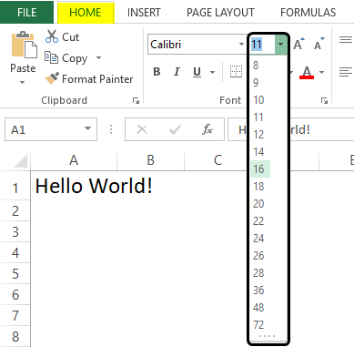 formatting in excel 1-5