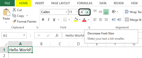 formatting in excel 1-6