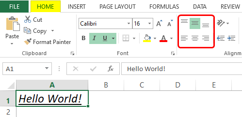 formatting in excel 1-8