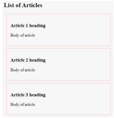 html section tag output 4