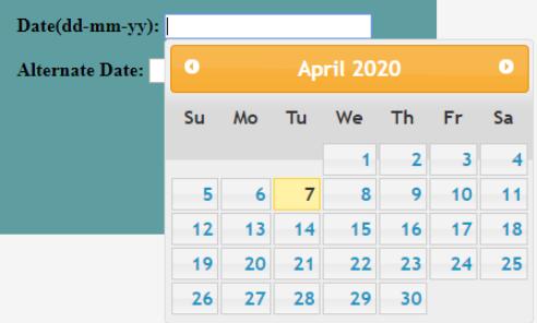 calendar Example 3